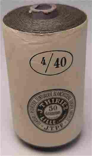 SEALED SPOOL OF FELDGRAU THREAD 1942 WW2 GERMAN CAP