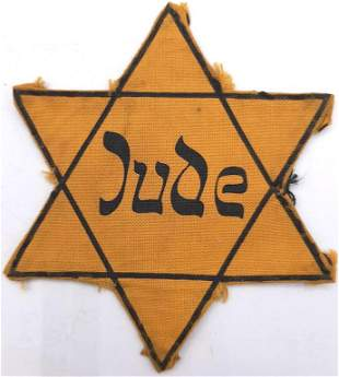 HOLOCAUST WORN JUDE GERMANY STAR OF DAVID JEW JEWISH
