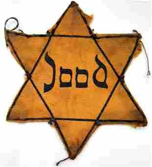HOLOCAUST WORN JOOD HOLLAND STAR OF DAVID JEW JEWISH