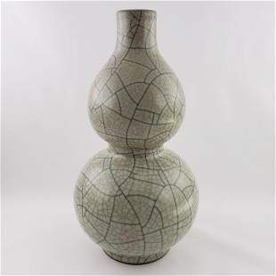 Song Longquan Kiln Crackle Glazed Gourd Vase