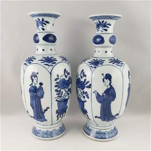 Pair of Qing  Vases
