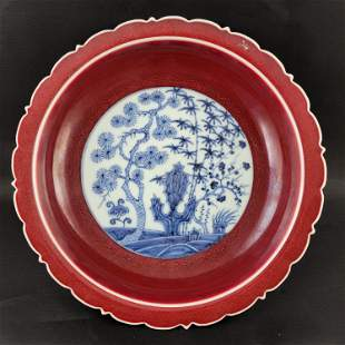 Xuande Ox Blood Plate