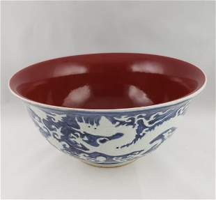 Ming Dynasty Dragon Bowl