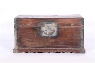 A CHINESE HUANGHUALI WOOD LIDDED BOOK BOX