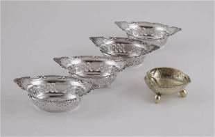 Tiffany & Co. 1873-1891 Silver Gilt Walnut Shaped