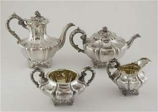 Four Piece English Victorian Tea Set by Joseph and