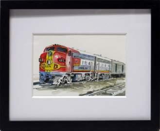 Line' Tutwiler, Santa Fe Color, Matted Watercolor on