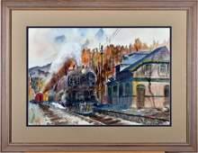 Ed Wong-Ligda, Untitled Baldwin Mallet Steam Locomotive