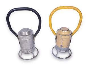 Pair of Adlake Battery Powered Railroad Hand Lanterns -