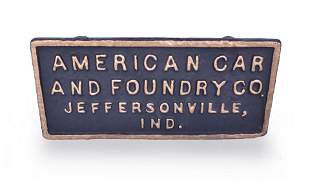 American Car and Foundry Co. Cast Iron Sign