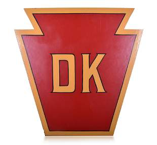 Replica Pennsylvania Railroad DK Tower Sign