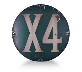 X4 Porcelain Railroad Sign