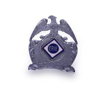 Erie Railroad F.G. Clover Co. Police Badge