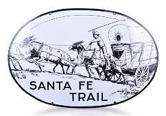 Santa Fe Trail Porcelain Sign