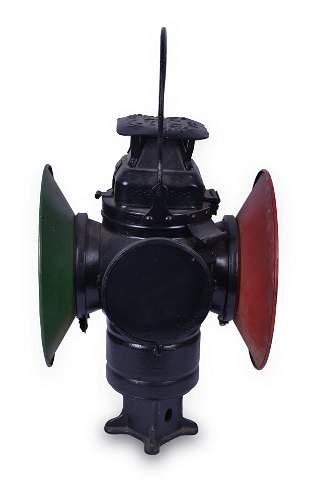 Adlake Pennsylvania Railroad Switch Lantern w/ Two Day