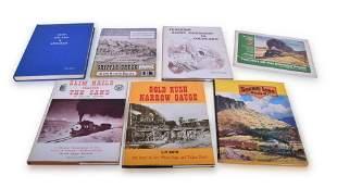 Seven Narrow Gauge Railroading Books; Gold Rush Narrow
