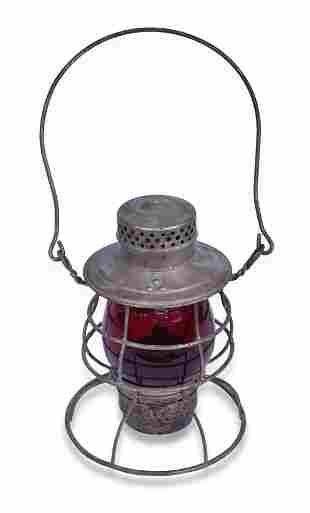 Perkins Marine Lamp Corporation Tall Red Globe Lantern