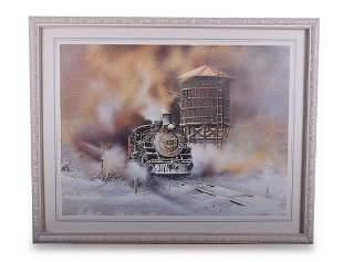 Group of Five Narrow Gauge Railroad Prints (Four