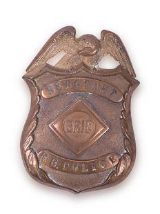 Erie Railroad Sergeant Police Breast Badge
