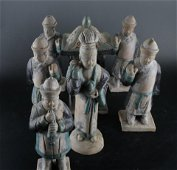 A Set of Earthenware Characters with a Litter