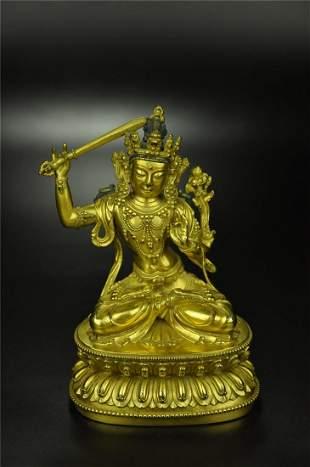 A Rare Gilt-bronze Figure of Syamatara