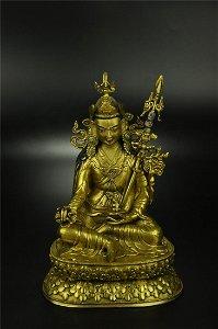 A Fine Gilt-bronze Figure of Padmasambhava