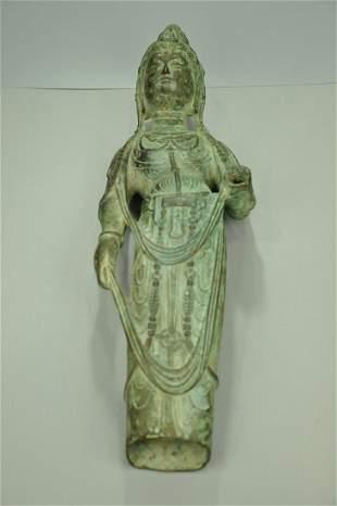A Rare Bronze Figure of Phagpa