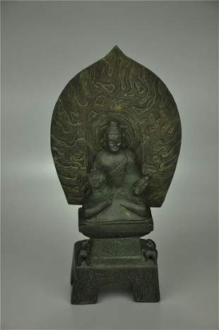 A Fine Copper Buddha Bench