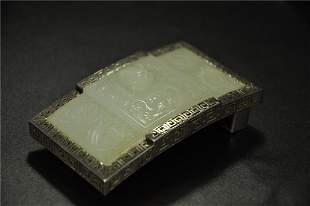A Rare White Jade 'Dragon' Belt Hook