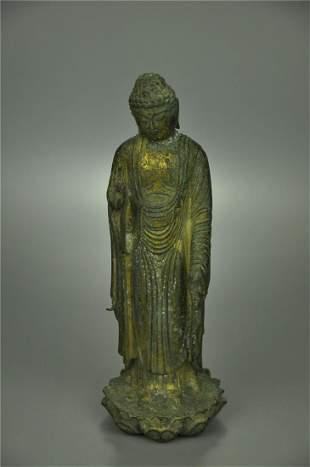 A Fine Bronze Standing Figure of Buddha