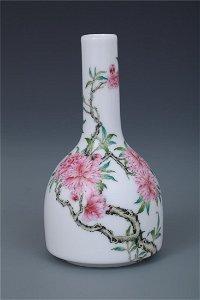 A Fine Enamel 'Peach Blossom' Bell Zun