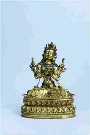 A Fine Gilt-Bronze Figure of Buddha