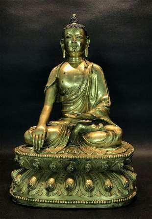 A Gilt-bronze Figure of Sakyamuni