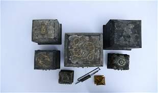 A Set of Rare Silver Treasure Boxes