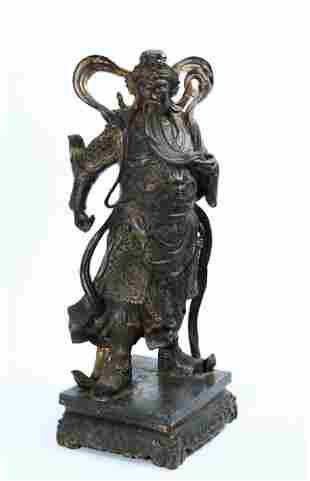A Finely-cast Gilt-bronze Figure of Guan Gong