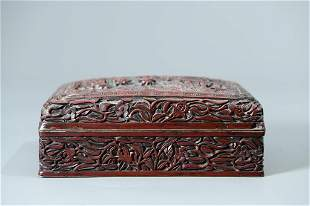 An Exqiusite Carving Lacquered Box