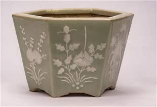 A Fine Celadon-Glazed 'Fig' Pot