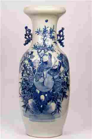 A Fine Blue and White Vase
