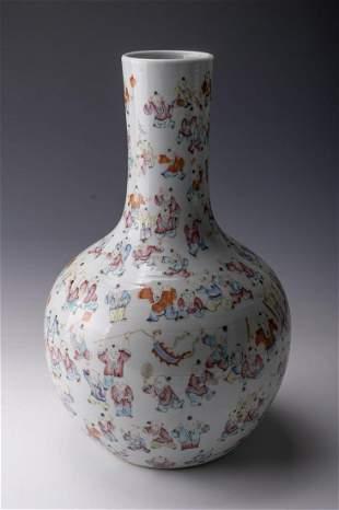 A Fine Famille-rose Vase