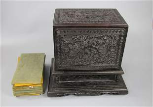 A Set of Hetian Jade Seal and Books