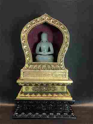 A Rare Jade Carving Figure of Buddha