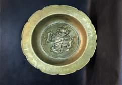 A Rare Gilt-bronze Encarved Basin
