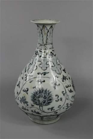 A Rare Blue and White 'Flower' Vase