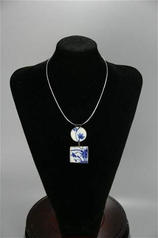 A Rare Blue and White Necklace