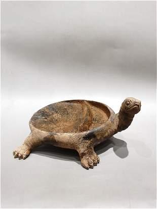 A Rare Copper Turtle-shaped Inkstone