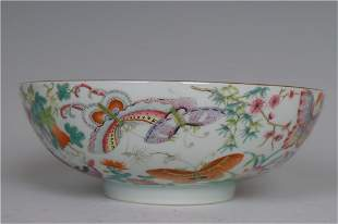 An Exquisite Famille-rose 'Butterfly' Bowl