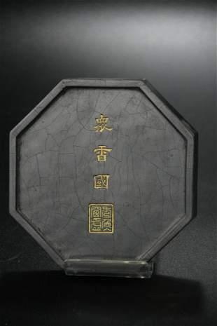 A Wooden 'Lotus' Ornament
