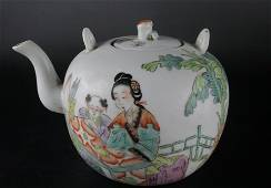 A Fine Famille-rose 'Character Story' Ewer