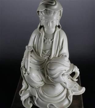 A Blanc-De-Chine Figure of Guanyin
