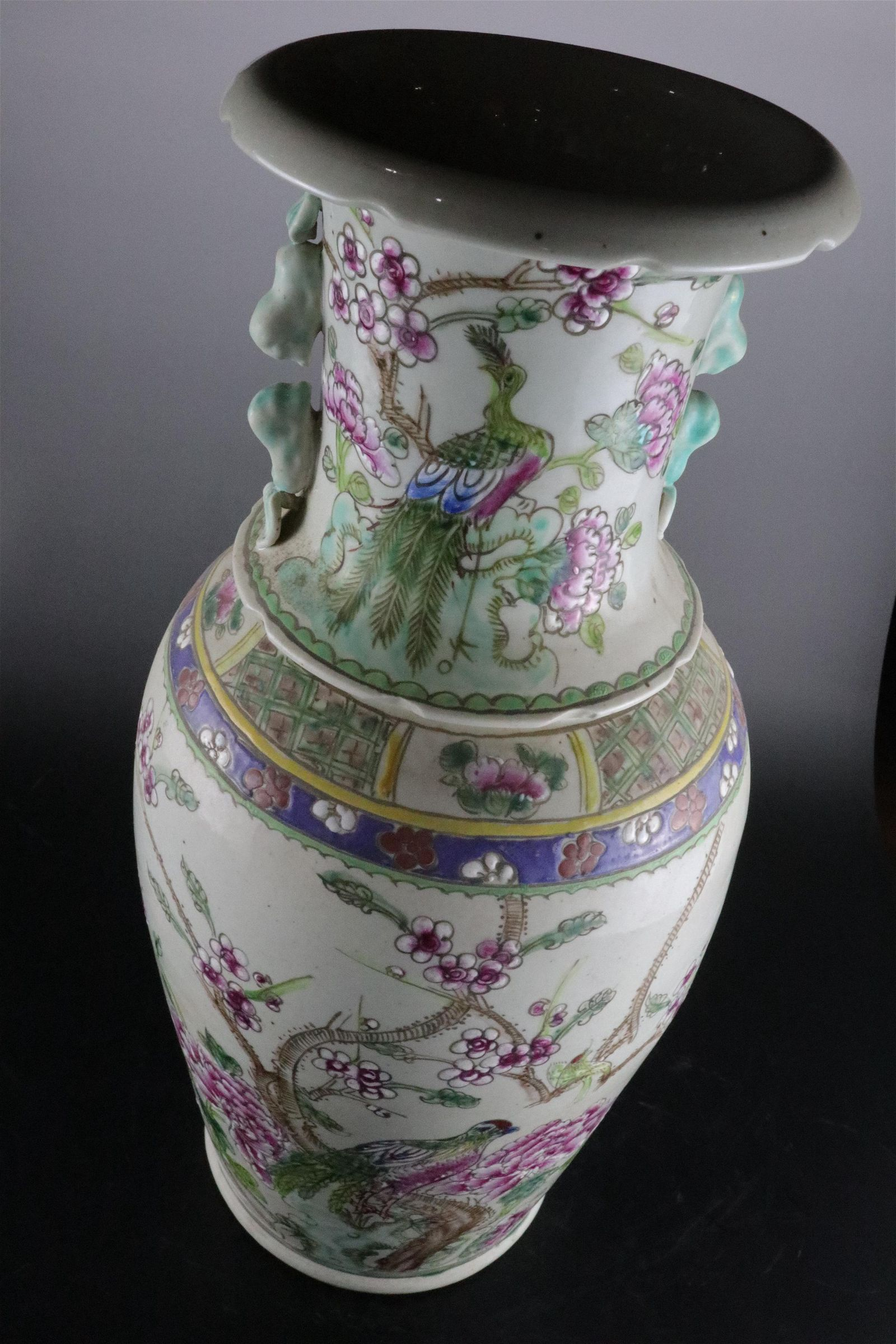 A Fine Famille-rose 'Flower and Bird' Vase